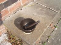 Cast IRON Pestle and Mortar(unused)