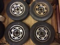 "VW Golf Mk2 GL 13"" 4x100 Steel Wheels With Tyres - Mk1 Mk3 Steelies"