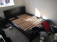 King size bed frame - Malm £50