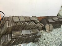 Purple / grey slate paving slabs