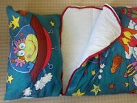 2 x Slumbalux Junior Sleeping Bags with pillows (being sold together as one 'item')