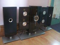 ILuv Hi-Fi Stereo Speaker System 4 CD's and iPhone Dock 2 Speakers Radio