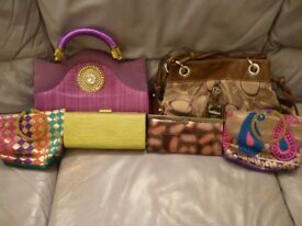 six ladies quality hand bags,brand new never used, all six at real bargain price,£19.stanmore,middx