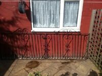 2 wrought iron gates/driveway gates combined width 2840mm height 890mm Bargain £40