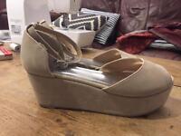 Open toe wedge ladies shoes uk6
