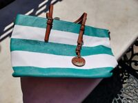 Large green and white handbag. Only used once. Perfect condition.
