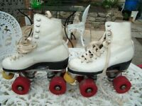 White Boot Rink Roller Skates Girls Size (12)