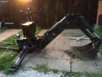 Compact tractor backhoe, back actor , siromer, kubota