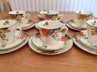 *NEW LOW PRICE* 1950s tea set, tea cup, saucer and side plate, floral pattern, afternoon tea