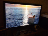 50inch 3D HD Samsung 1080p TV + 3D BLU RAY PLAYER & 4 x 3D Shutter Glasses / Freeview