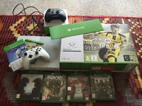 XBOX ONE 1TB NEW WITH GAMES AND CONTROLLERS
