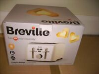 Breville - ivory coloured 4 slice toaster - brand new still in box perfect condition