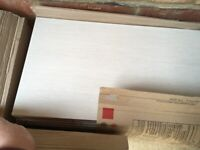 12 Azteca Ceramic Wall Tiles (Cream) Collect Only