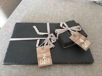 """BRAND NEW """"NEXT"""" SET OF 4 SLATE PLACEMATS AND COASTERS"""