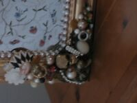 recycled jewellery embellished mirror