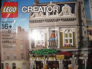 LEGO Creator: Parisian Restaurant. Two Story model includes the restaurant with kitchen and Customer, Apartment. Studio