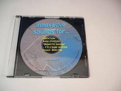 203 Sounds im MIDI FILE auf CD ! Novation BassStation /& BassStation Rack
