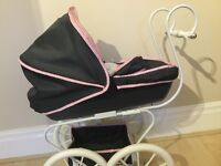 Pram (Hauck Classic) (With Doll, Dummy, Bag And Baby Bottle)