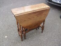 Great Solid Oak 1920's Dropleaf Spacesaver Table