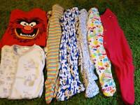 8x 3-6 months sleepsuit onesies (girls / unisex)