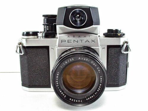 Asahi Pentax SV 35mm SLR Film Camera with Pentax Meter & Case