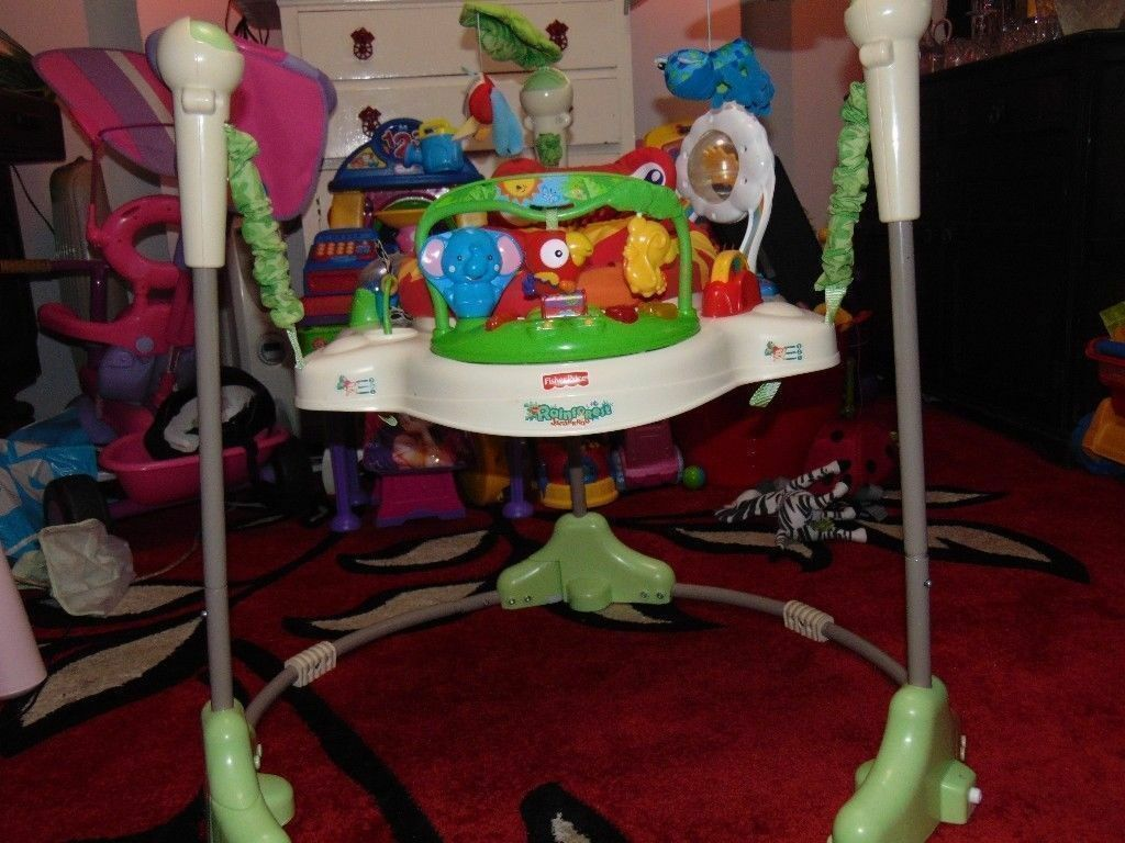 Fisherprice rainforest jumperoo baby bouncer activity center