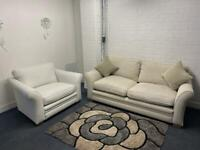 Beautiful next 3 seater & cuddle chair delivery 🚚 sofa suite couch furniture