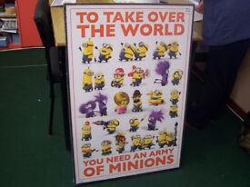 To Take Over the World Minnion Canvas Picture Brand New Wrapped