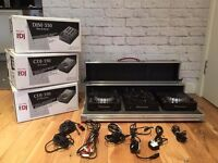 Pioneer CDJ350 & DJM350 Complete kit with flight box , all cables and existing boxes