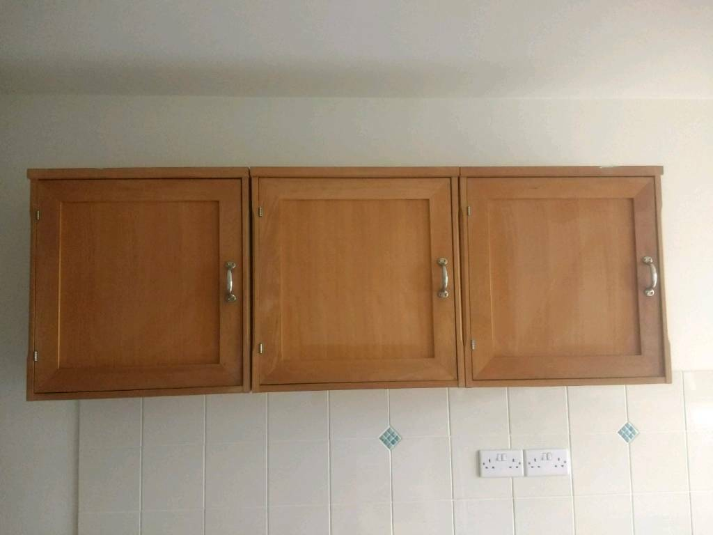 Habitat Olivia Kitchen Utility Wall Cabinets Solid Beech In