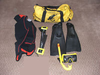 Snorkeling gear and holdall