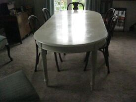 MULTI YORK FRENCH STYLE EXTENDING DINING TABLE