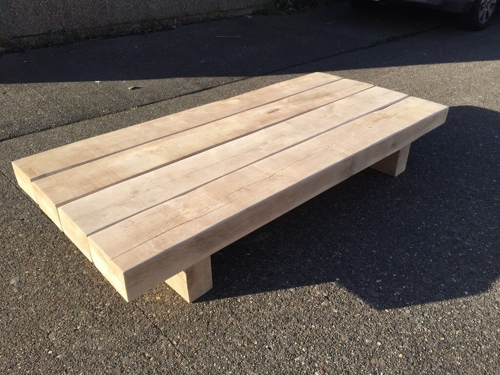 Oak sleeper coffee table in hull east yorkshire gumtree oak sleeper coffee table geotapseo Gallery