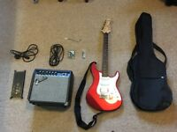 Yamaha Pacifica Guitar with amp + accessories, near-perfect condition