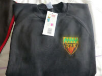 Cramlington Learning Village Sweat shirt (used in year 9 onwards) New with Tags size 38-40in