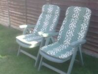 GARDEN CHAIRS £30 THE PAIR