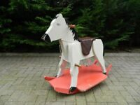 Old Wooden Rocking Horse 1950's