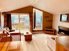 ***STUNNING PRE-OWNED STATIC LODGE FOR SALE WHITLEY BAY HOLIDAY PARK SITE FEES INCLUDED UNTIL 2019**