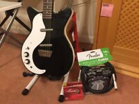 Left handed electric guitar plus amp and accessories - Danelectro