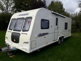 Bailey Pegasus 624 (2010) Fixed Bed Twin Axle End Washroom Large Shower U Shaped Front
