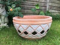 Antique Vintage Extra Large Terracotta Plant Pot Planter (52cm)