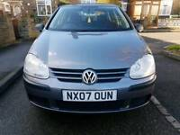 2007 vw golf 1.6, 67k low mileage with FULL service history