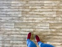 Laminate Effect Vinyl Flooring, 4m Wide Roll, Limited stock available