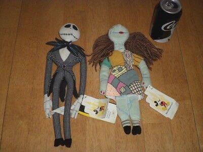 Disney Halloween 1990 (Tim Burton- DISNEY- Nightmare Before Christmas SALLY & JACK Halloween Plush)