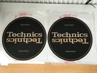 2x Technics 1200 GLD Gold Slipmats Limited Edition LTD - Genuine RGS0012Z ( MK2 MK5G LTD )