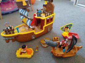 nd the Neverland Pirates Bucky Pirate Ship & Large Jake Plush