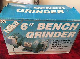 """Hilka 6"""" bench grinder"""