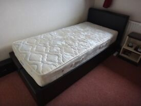 Single bed with storage and mattress