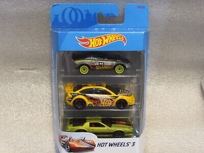 HOT WHEELS 3-PACK WITH CAMARO IROC-Z -LANCIA STATOS & FORD RACING FORD FOCUS