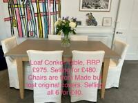 Loaf Conker Table and Made Dining Chairs